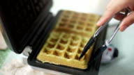Making Waffles in a Waffle Maker video