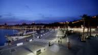 Malaga Harbor Panorama video