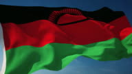 4K Malawi Flag - Loopable video