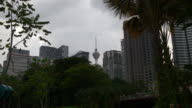 malaysia cloudy sky kuala lumpur klcc central park tv tower panorama video