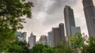 malaysia day light kuala lumpur KLCC park cityscape panorama 4k time lapse video