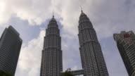 malaysia downtown famous petronas twin towers kuala lumpur panorama video