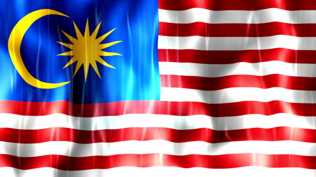 Malaysia Flag Animation video