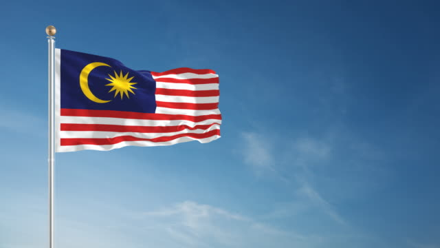 4K Malaysia Flag - Loopable video
