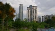 malaysia sunset light klcc park kuala lumpur downtown panorama video