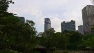 malaysia sunset twilight kuala lumpur downtown  klcc mall park panorama video