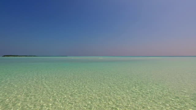 Maldives beautiful beach background white sandy tropical paradise island with blue sky sea water ocean 4k video