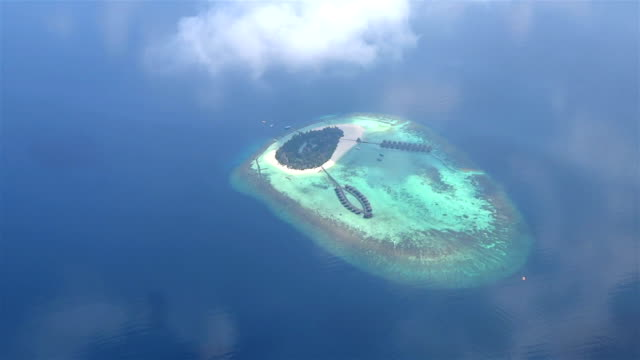 AERIAL: Maldivian resort on exotic white sand island video
