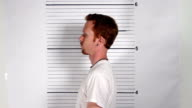 Male Criminal Mugshot video