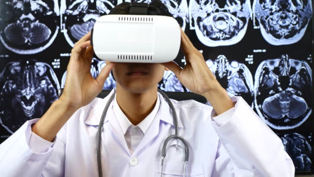 Male Doctor using Virtual reality, Healthcare And Medicine Concept video