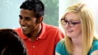Male Female Teenage Students Working Towards Degree video
