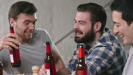 Male Friends Celebrating with Beer video