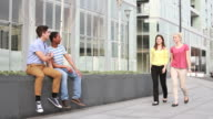 Male friends gossip about females video