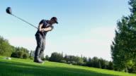 Male golfer video