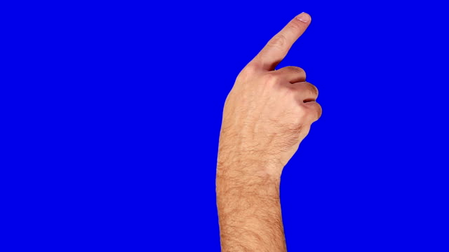 Male hand. Tablet. Touchscreen gestures. Blue Screen. video
