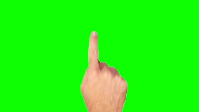 Male hand. Tablet. Touchscreen gestures. Green Screen. video