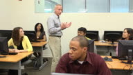 Male Instructing Adult Students video