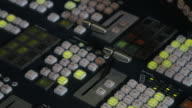 Male mixing control in Television studio video