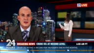 HD: Male Newscaster Reporting Live In TV News video