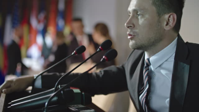 Male Politician Addressing National Problems video