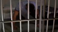 4K Male Prisoner in Jail Cell doing Push Ups video