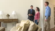 Male Real Estate Agent Showing Home video