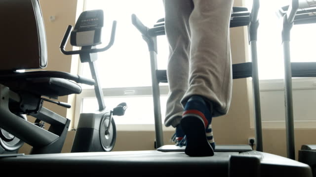 Male running on treadmill video