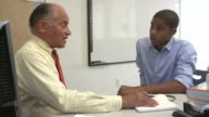Male Student Talking To High School Counselor video