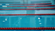 Male swimmer jumping in the swimming pool video