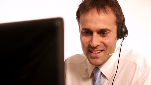 Male telephonist video