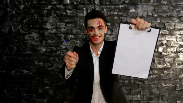 Male vampire offers to sell your soul video