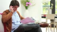 Male working from home video