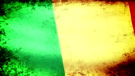 Mali Flag Waving, grunge look video