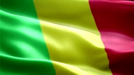 Mali national flag. (New surge and lighting effect) video