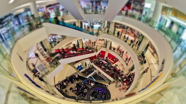 Mall Pedestrian Traffic Time Lapse video