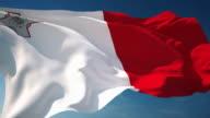 4K Malta Flag - Loopable video