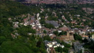 Malvern - Aerial View - England, Worcestershire, Malvern Hills District, United Kingdom video