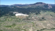 Mammoth Springs Wide  - Aerial View - Wyoming, Park County, United States video