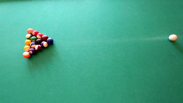 man aiming at pool ball during billiard game video