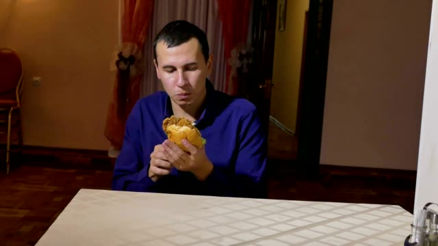 man and sandwich video