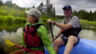 Man and woman on raft video