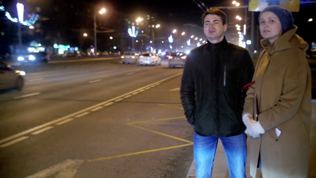 Man and Woman Thumbing on the City Road video
