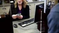 Man at bank video