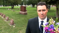 Man at Cemetery video