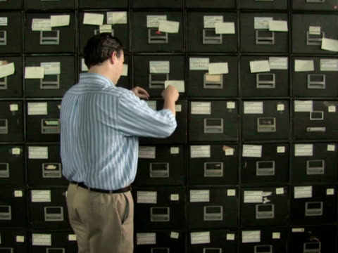 Man at File Cabinet 1 video