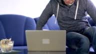 HD: Man Awakes And Start Using Laptop video