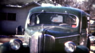 (8mm Film) 1949 Man Backing Up New Car video