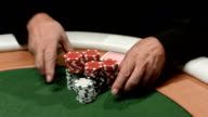 HD: Man Betting All Chips In Poker video