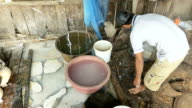 Traditional way of making rice noodles video