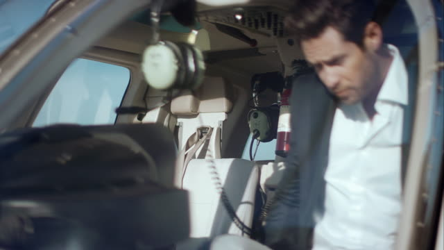 Man boarding helicopter video